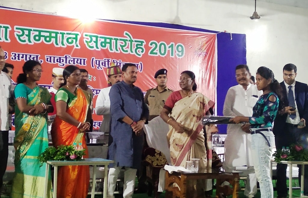 <p>Honorable Governor Draupadi Murmu attended Pratibha Samman ceremony held in Chakulia on Saturday, 03-08-2019.</p>
