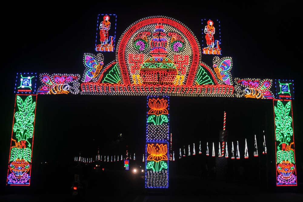 <p>Decorated lighting ahead of 17th foundation day celebrations to be attended by President of India Ram Nath Kovind in Ranchi, on Wednesday. Inauguration and foundation day laying…
