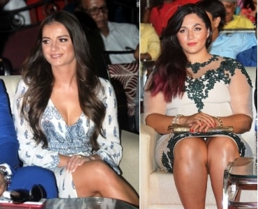 <p>Actress of Poland, Rajesh Jais(L) and Iranian model and actress Leily Valipour (R) during the inaugural ceremony of<strong> </strong>the Jharkhand International Film Festival…