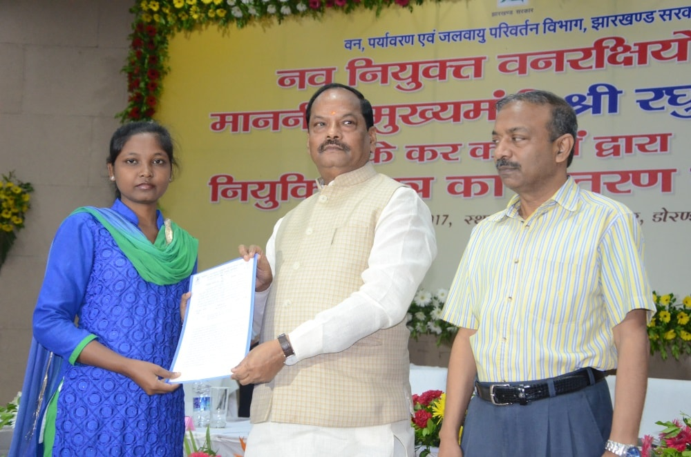 <p>CM Rahgubar Das today handed over appointment letters to about 2188 new recruits at a function held in Vaan Bhawan Ranchi.</p>