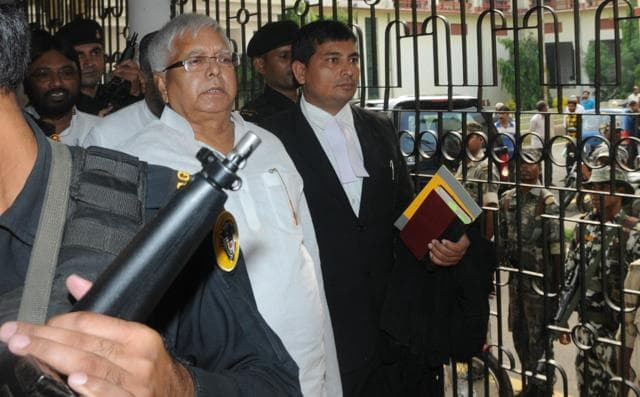 <p>Lalu Prasad Yadav gets three and half years of rigorous imprisonment in the fodder scam case.This sentence was awarded by the CBI Special Court in Ranchi.</p>