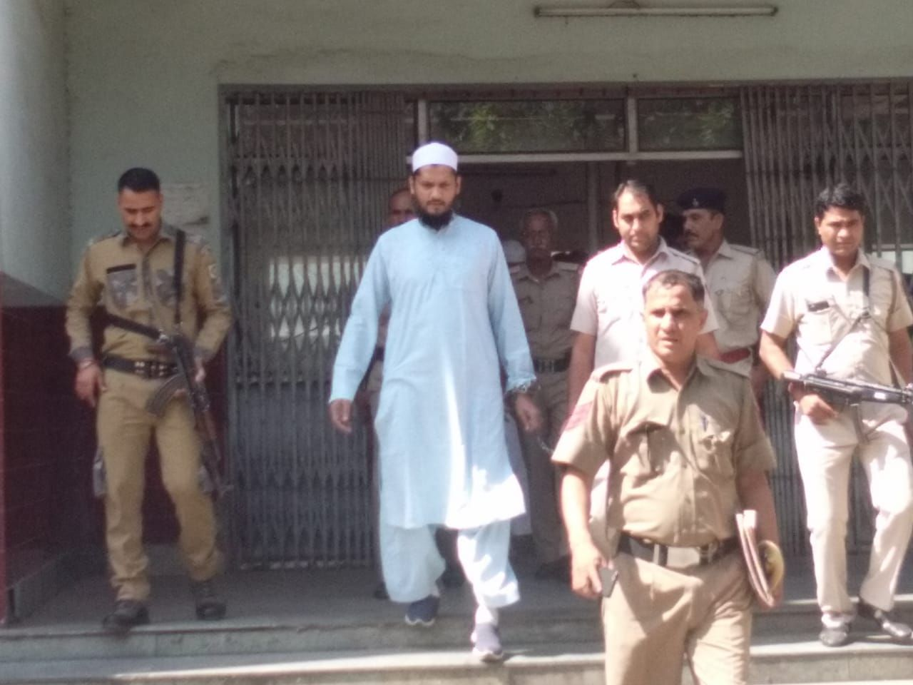 <p>Suspected militant Abdul Shami of Al-Qaeda was today presented in the Jamshedpur court. The arrest of Shami was made from Haryana's Mewat on the suspicion of having links with…