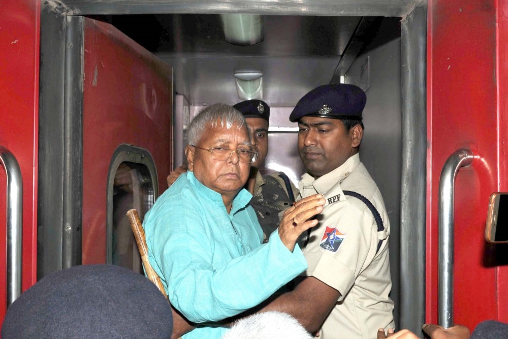 <p>RJD Chief Lalu Prasad Yadav leaves after getting treatment at RIMS in the wake of his deteriorating health in Ranchi on Wednesday. Lalu who has been jailed in connection with multiple…