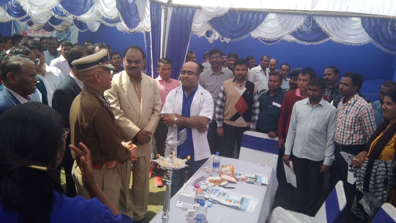 <p>A health camp was organised at the Police Headquarter in Ranchi on Thursday.</p>