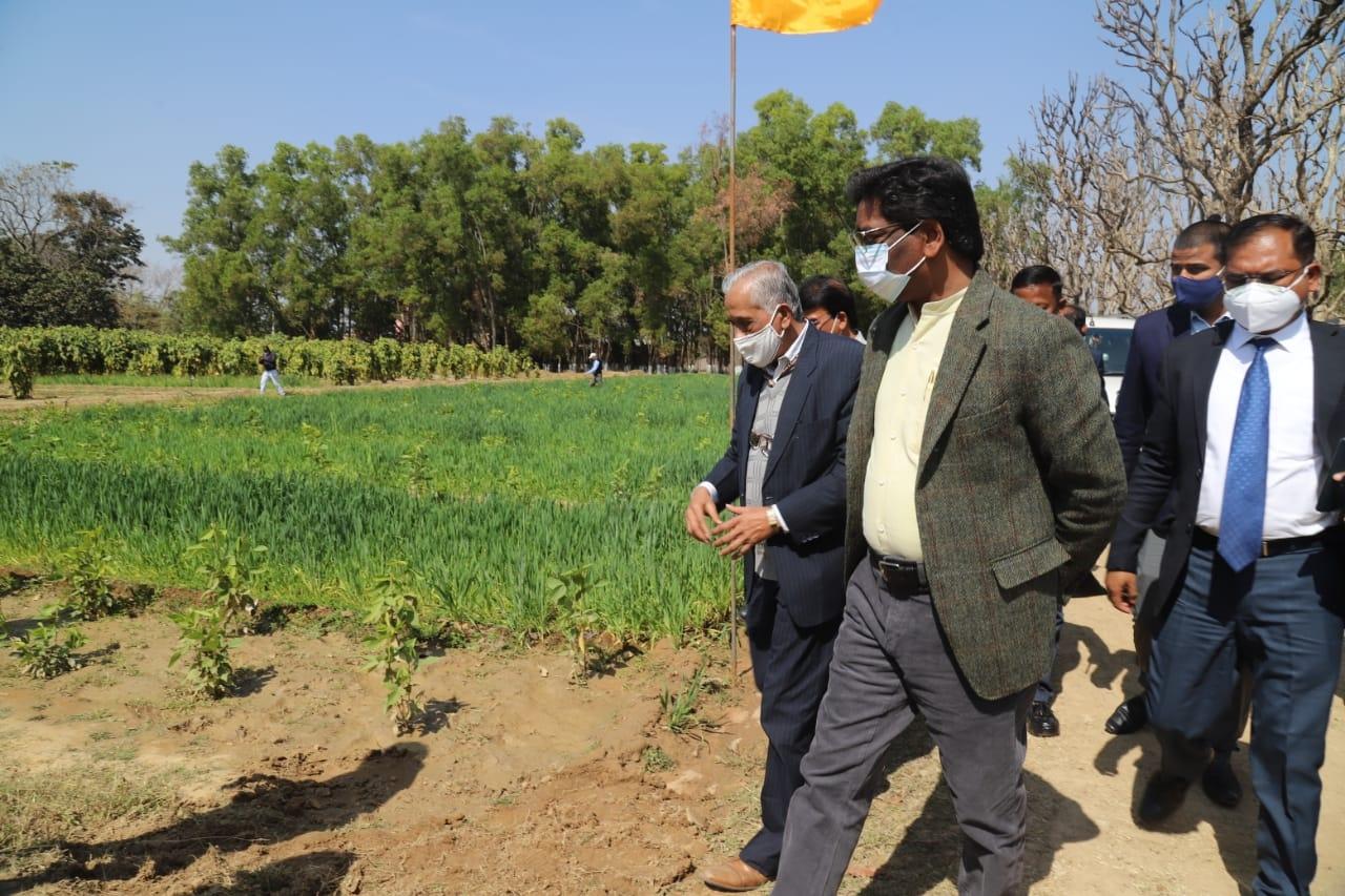 <p>भारतीय प्राकृतिक राल एवं गोंद संस्थान, नामकुम में आयोजित किसान मेला- सह- कृषि प्रौद्योगिकी प्रदर्शनी में शिरकत करते हुए मुख्यमंत्री श्री हेमन्त सोरेन ।</p>