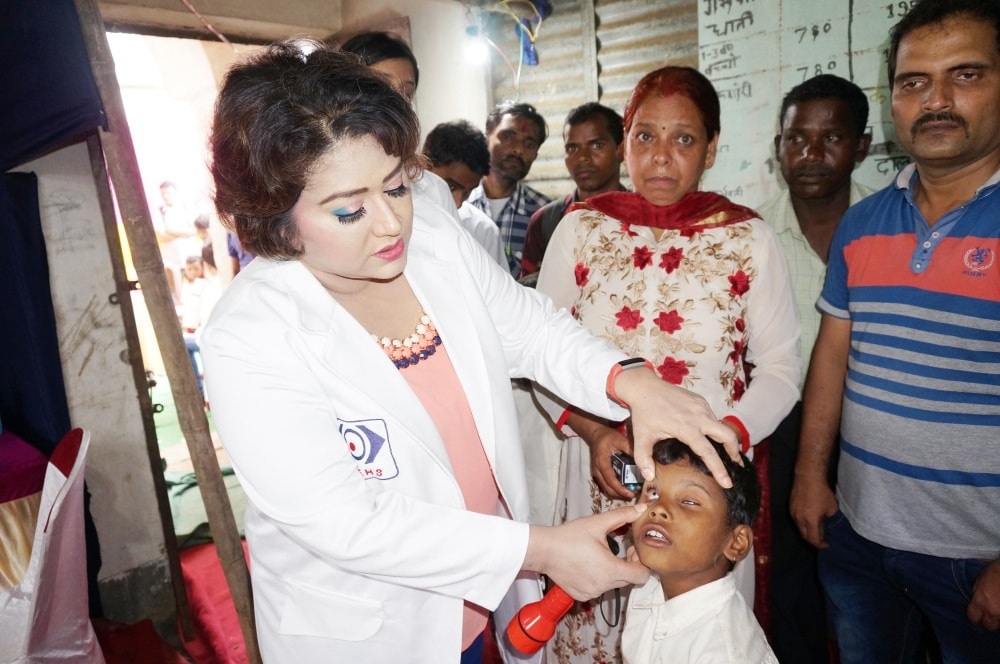<p>Medical Director Kashyap Memorial Eye Bank, Jharkhand Chapters President of Women Doctors Wing IMA and Secretary Women Ophthalmologists Society Dr. Bharti Kashyap during free eye…