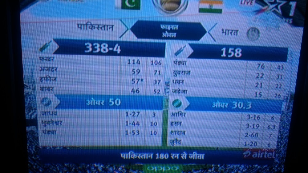 <p>By losing the match against Pakistan with a huge margin,India disappointed cricket fans acorss the country.The scene was no different in Ranchi where many people shut down their…