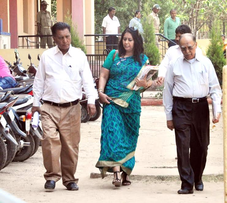 <p>National Assessment and Accreditation Council (NAAC) team of university Grant Commission(UGC) visits Central Library of Ranchi University campus in Ranchi.</p>