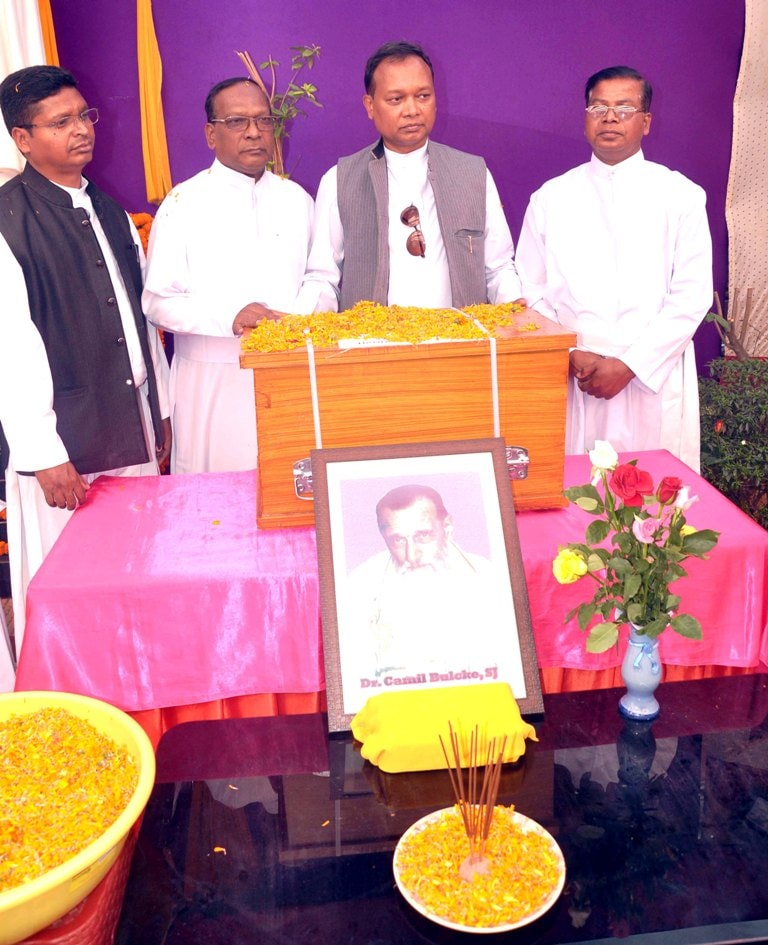 <p>After 36 years, terrestrial remains of Father Camille Bulcke were brought back to his 'Karmabhomi' (Ranchi, Jharkhand) from New Delhi on Tuesday. Bulcke was born in Ramschapelle…