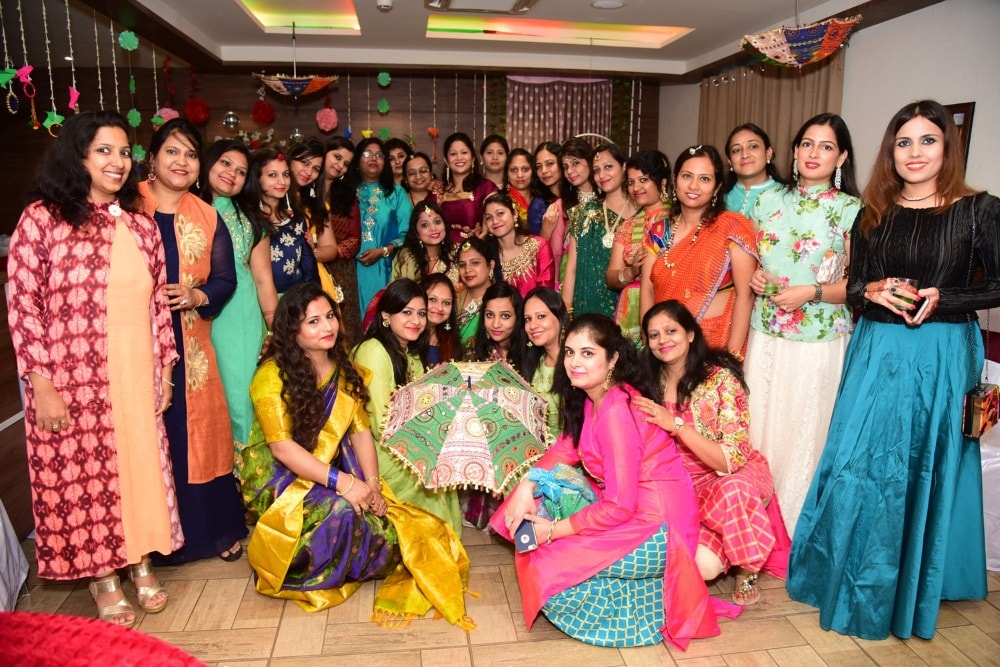 <p>JCI Ranchi Udaan celebrated Sawan Singhara on friday </p>
