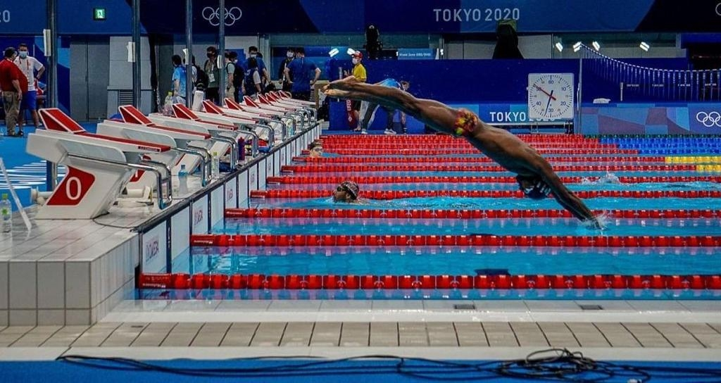 <p>Indian swimmer Sajan Prakash in a training session for Olympics 2020 at Tokyo.</p>
