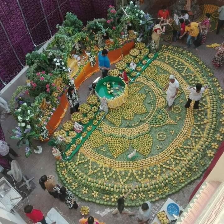 """<p>A Bird's Eye View of the undergoing """" Mango Festival"""" at Malda in West Bengal, India, showing superb artefact.</p>"""