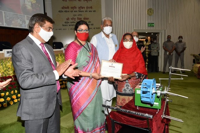 <p>To mark International Women's Day Textiles Minister Smriti Irani on Sunday distributed Buniyaad Reeling Machines to Women Silk Reelers to eradicate Unhygienic and Obsolete…