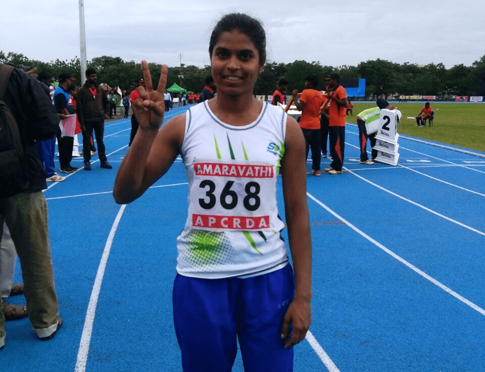 <p>Anurupa Kumari,Sports Authority of India,Ranchi,wins Silver Medal in Inter State Senior Athletics Championship at Guntur,Andhra Pradesh,on Tuesday.</p>