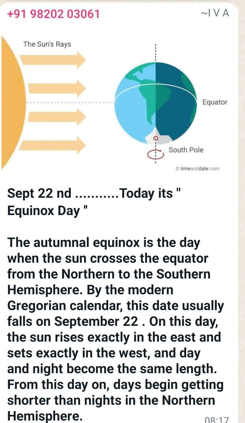<p>Equinox Day.</p>