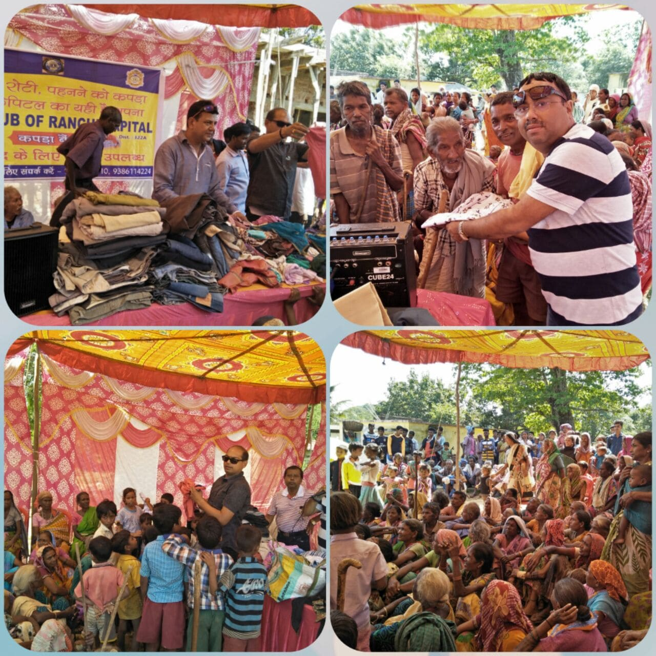 <p>Clothing was distributed among about 650 needy people under the initiative 'Cloth Bank' in Gargi village of Suharkhuttu, Ranchi by the Lions Club Ranchi Capital.</p>…
