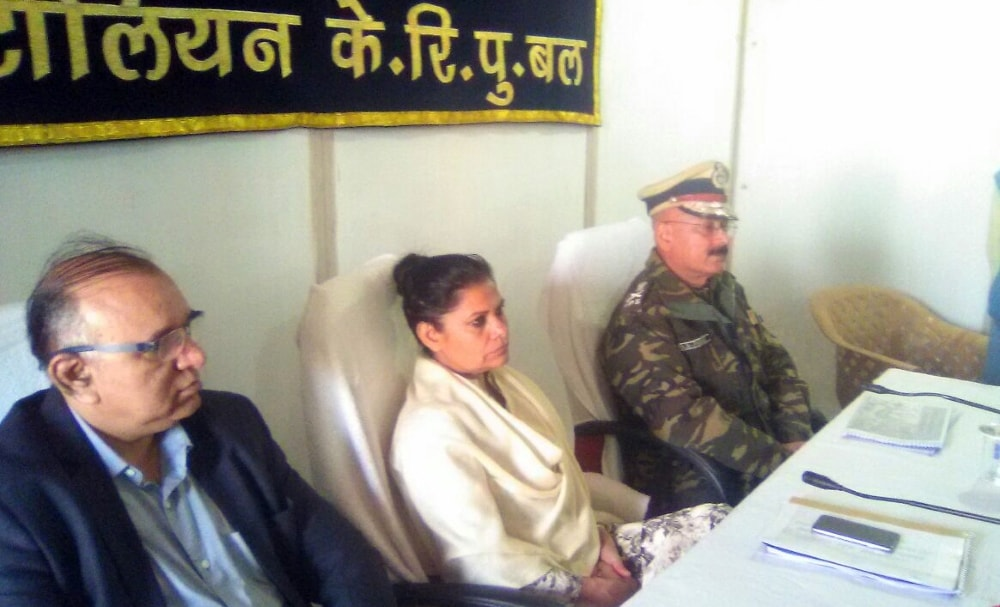 <p>Chief Secretary Rajbala Verma, DGP D K Pandey and Home Secretary SKG Rahte today reached at  Naxal affected area Barakol picket under Bhandariya police station and take stock…