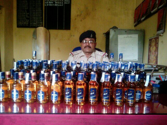 <p>Acting on a tip-offBouragadh OP in-charge S. K. Ojha and his men conducted a raid on secret locationinside Bhutgadia jungle and seized 124 bottles of English illicit…