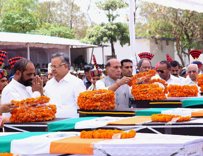 "<p>Top brass of the government including Chhatishgarh CM Raman Singh and Union Home Minister Rajnath Singh paid homage to CRPF martyrs.""It's cold-blooded murder, will review…"