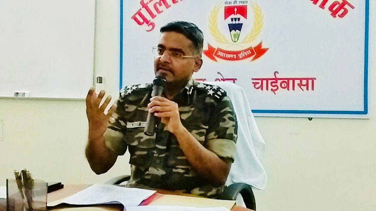 <p>A press conference was conducted today 18.08.2018 by Kuldeep Dwivedi, DIG Kolhan at DIG office Chaibasa, in which details of the crime and Naxal scenario of the first six months…
