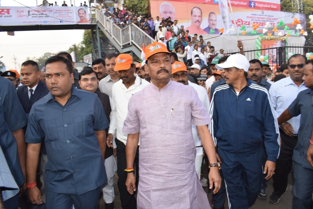 <p>On the occasion of the 142nd birth anniversary of Sardar Balabh Bhai Paten,India's first Home Minister,hundreds of people led by Chief Minister Raghubar Das,CS Rajbala Verma…