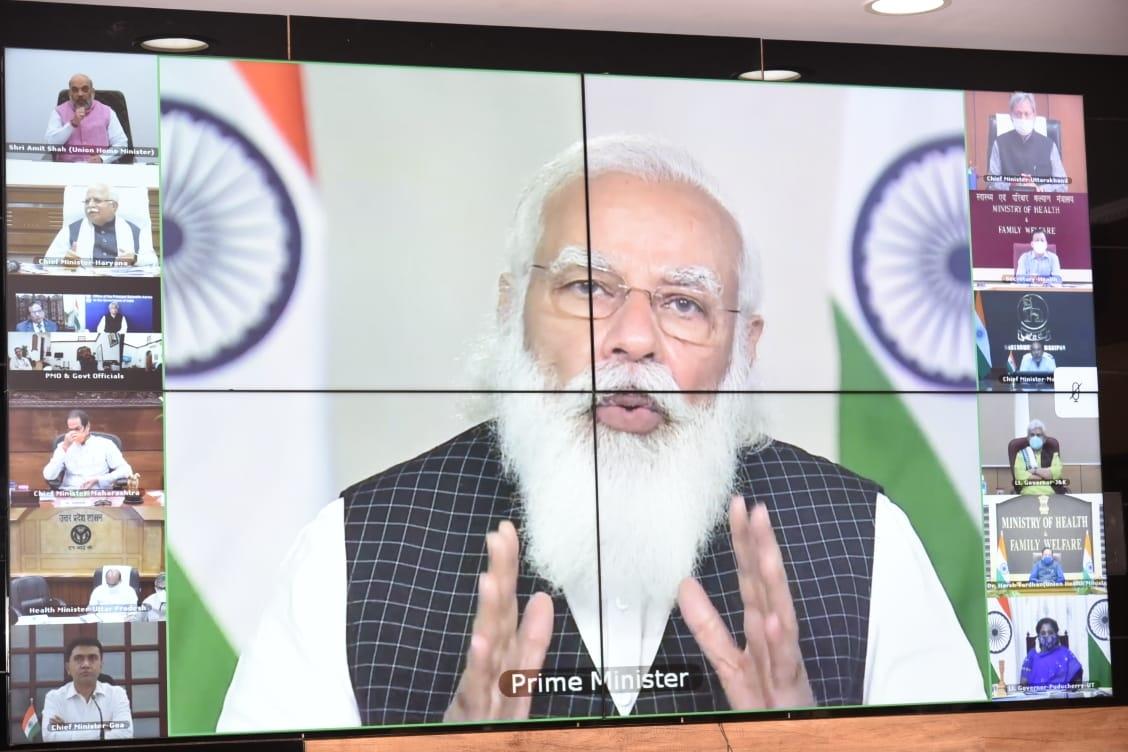 <p>कोरोना को लेकर प्रधानमंत्री श्री नरेंद्र मोदी के विभिन्न राज्यों के मुख्यमंत्रियों के साथ हुई वीडियो कॉन्फ्रेंसिंग में झारखंड मंत्रालय से मुख्यमंत्री श्री हेमन्त सोरेन शामिल हुए…