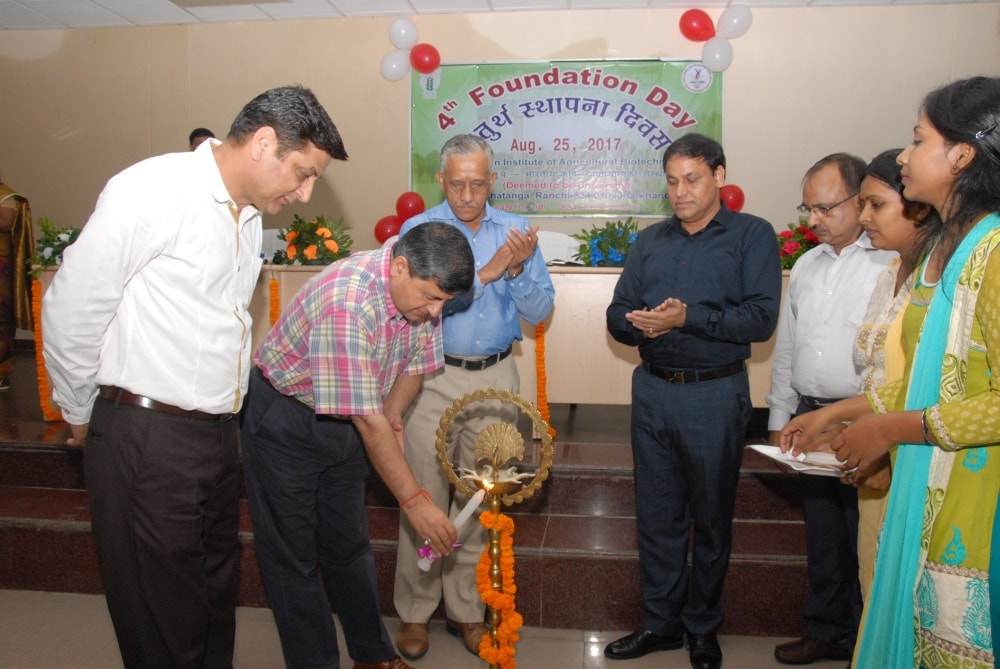 <p>ICAR-IIAB celebrated its 4th Foundation Day on 25th August, 2017 at Palash Auditorium, ICAR-IINRG, Namkum, Ranchi. Eminent Scientist and Vice Chancellor of BAU, Ranchi Dr. Parvinder…