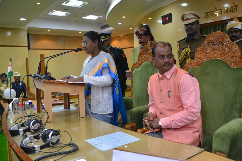 <p>Jharkhand Governor Droupadi Murmu delivered her speech to the legislators during first day of Budget Session of  Jharkhand Assembly in Ranchi on Wednesday. Assembly Speaker…