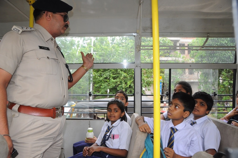 <p>School children looked tense as Ranchi Traffic SP Sanjay Ranjan Singh, DTO Nagendra Paswan and other officials checked valid documents, safety arrangement and other items during…
