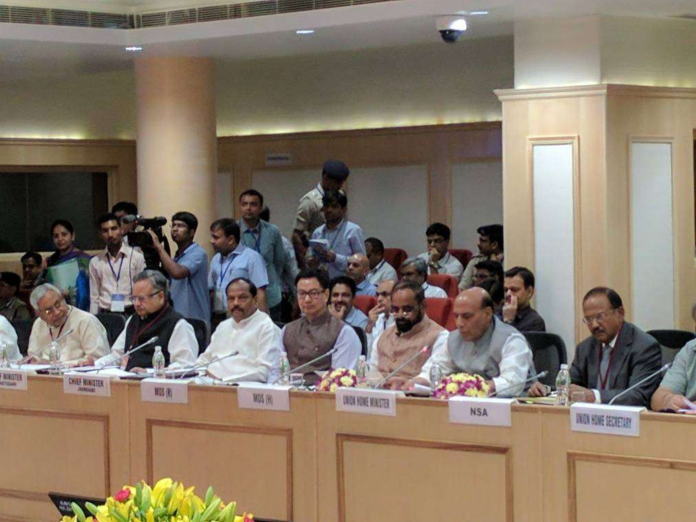 <p>Bihar CM Nitish Kumar and his counterparts from Chattisgarh and Jharkhand among others taking part in an anti Naxal meeting headed by Home Minister Rajnath Singh in New Delhi.</p>…