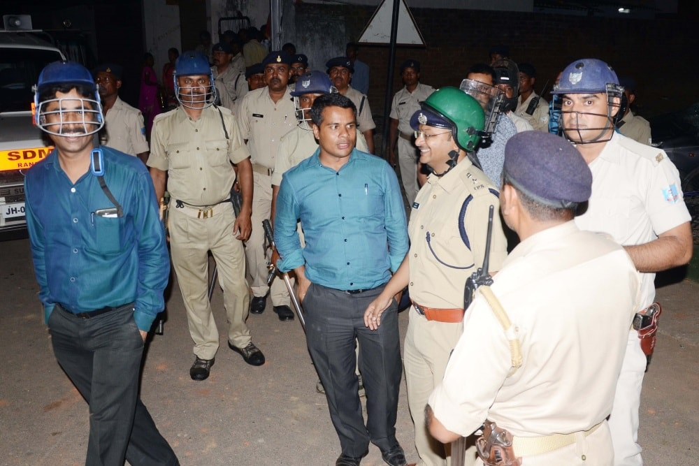 <p>IAS officer cum Ranchi SDO Bhor Singh Yadav is in the news.Today he visited Bargaie to maintain law and order:But Vishwa Hindu Parishad was up in arms against him.Reason?.Yadav…