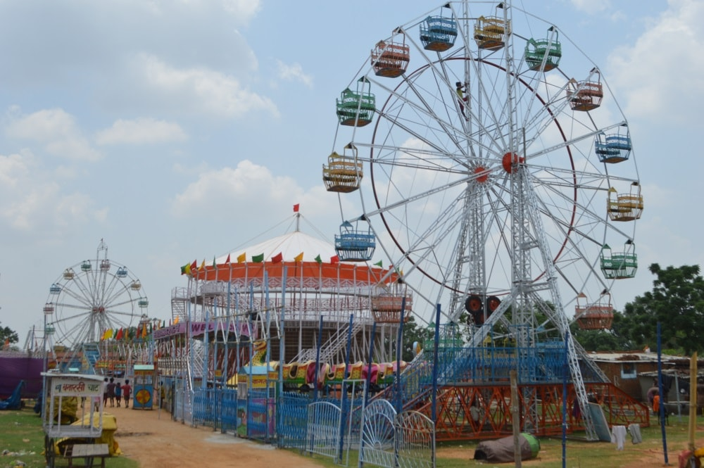 <p>Preparations for the Lord Jagannath Rath Yatra at Dhurwa,Ranchi,have begun.Two gigantic Ferries wheel have been set up along with other amusement rides at the site, waiting for…