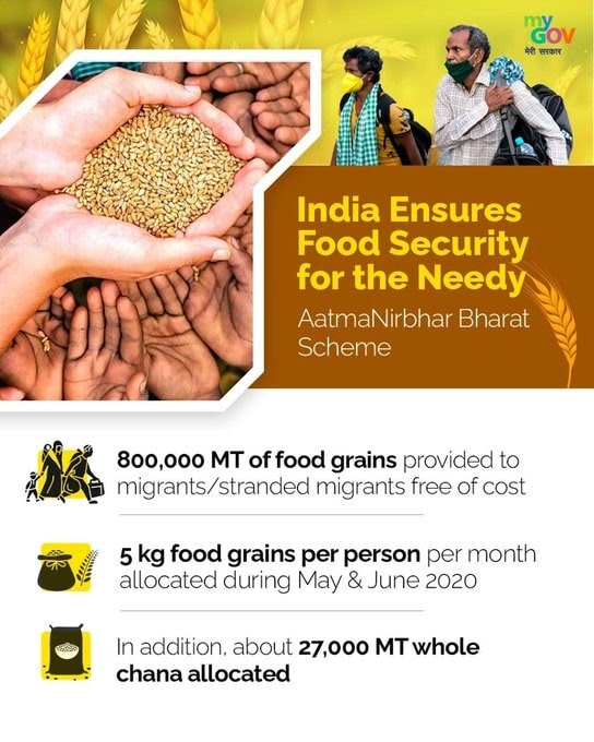 <p>With various reforms and flagship initiatives, the government is ensuring food security for all affected by the COVID-19 pandemic.</p>