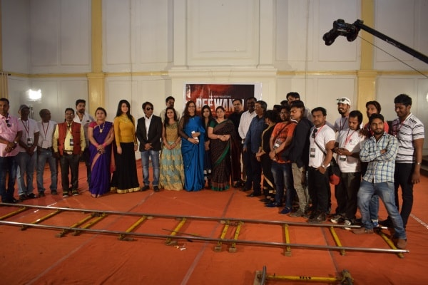 <p>Members who are part of the Kortha film in the making -Diwangi.They include Director Rajiv Sinha,Actor Raman Gupta,Actress,Tusha,Monoka Mundu,Riya Bharti and others at at…
