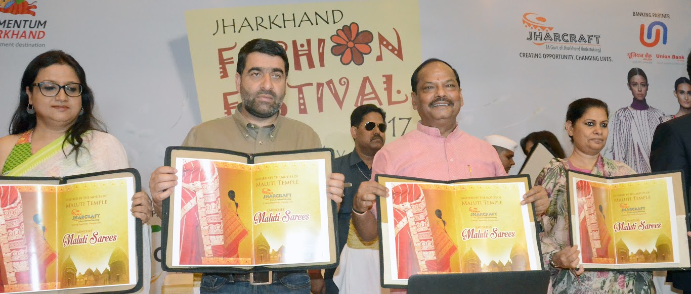 <p>Jharcraft five-day Fashion Festival begins inside BNR Chanakya hotel premise in Ranchi with top functionaries including CM Raghubar Das(second from right) and Chief Secretary Rajbala…