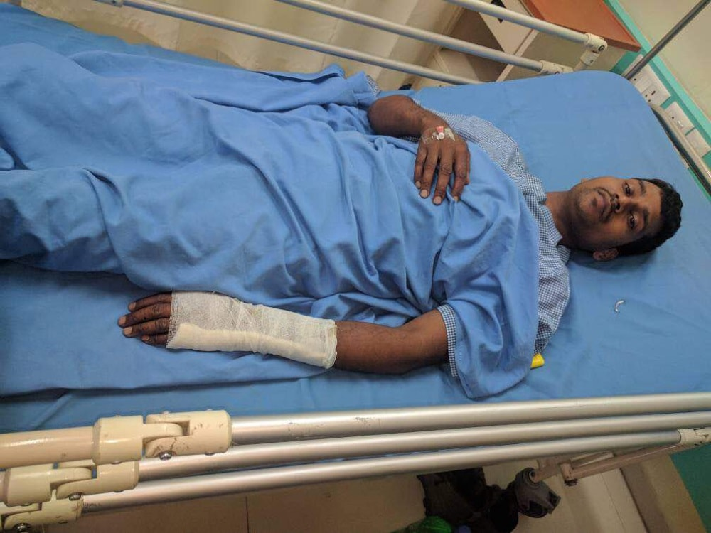 <p>An injured jawan being taken to hospital for better treatment in Ranchi after a landmines blast triggered by Maoists at Budhha forest under Garwah-Latehar border on Monday.</p>