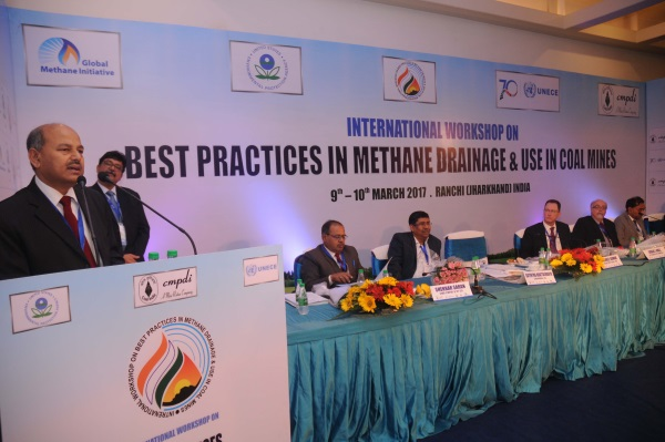 <p>Secratary (Coal), Government of India Susheel Kumar addresses at a International Workshop on Best Practices in Methane Drainage and Use in Coal Mines in Ranchi on Thursday. US Consulate…