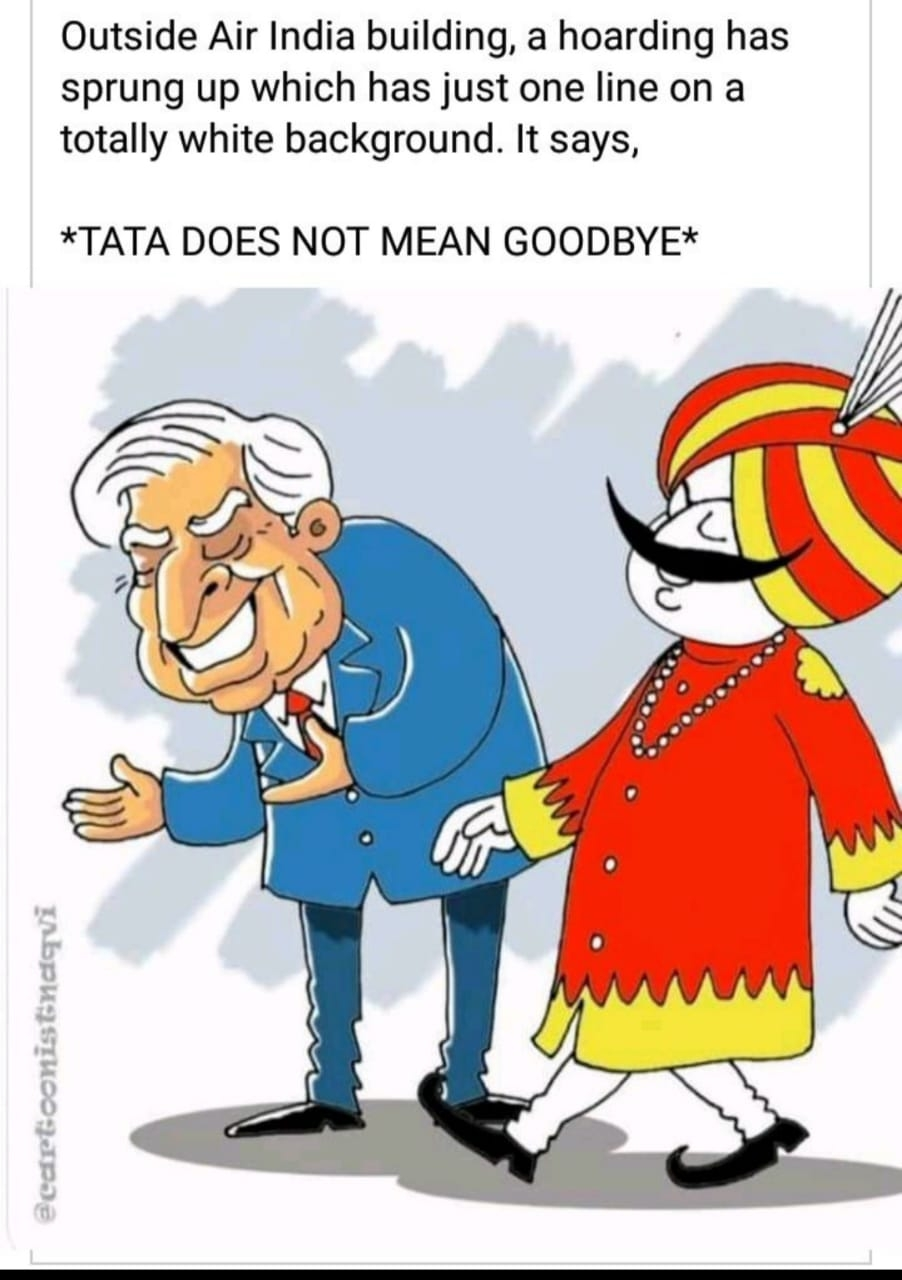 <p>TATA doesn't mean Goodbye.</p>