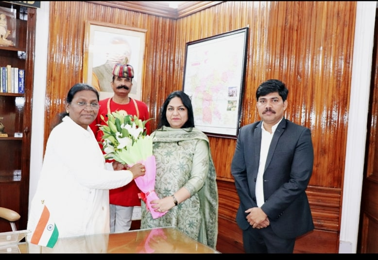 <p>Secretary agriculture Mrs. Pooja Singhal and director agriculture Mr. Ramesh Gholap met the Honorable Governor today and invited her for the upcoming Global agriculture and food…