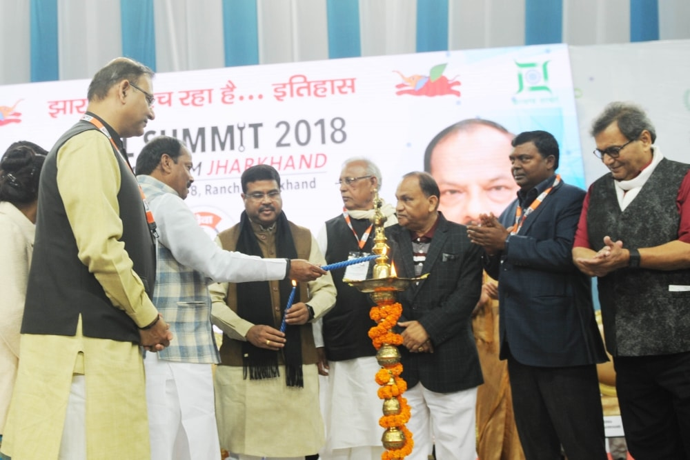 <p>Jharkhand Chief Minister Raghubar Das during the inauguration of Skill Summit 2018 in Ranchi on Friday.</p>