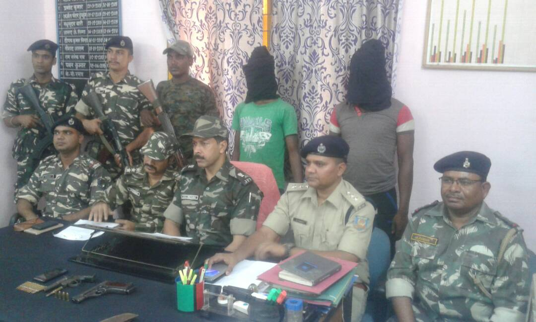 <p>The police arrested two PLFI Ultras in between Bundu and Tamar along Ranchi- Jamshedpur highway and recovered two pistols and 16 cartridges.</p>