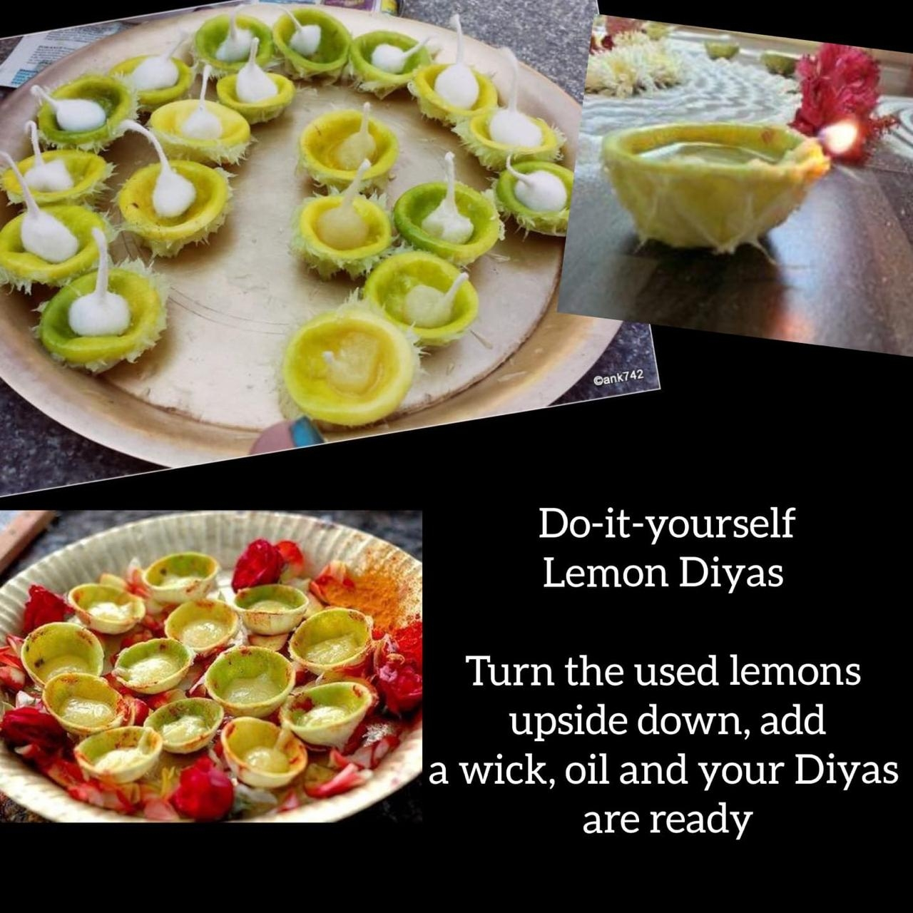 <p>An innovative attempt is visible in these Lemon Diyas for Sunday night at 9 P.M.Make Lemon Diyas. How? Follow the guidelines mentioned on the page itself. Light it to lighten unity…
