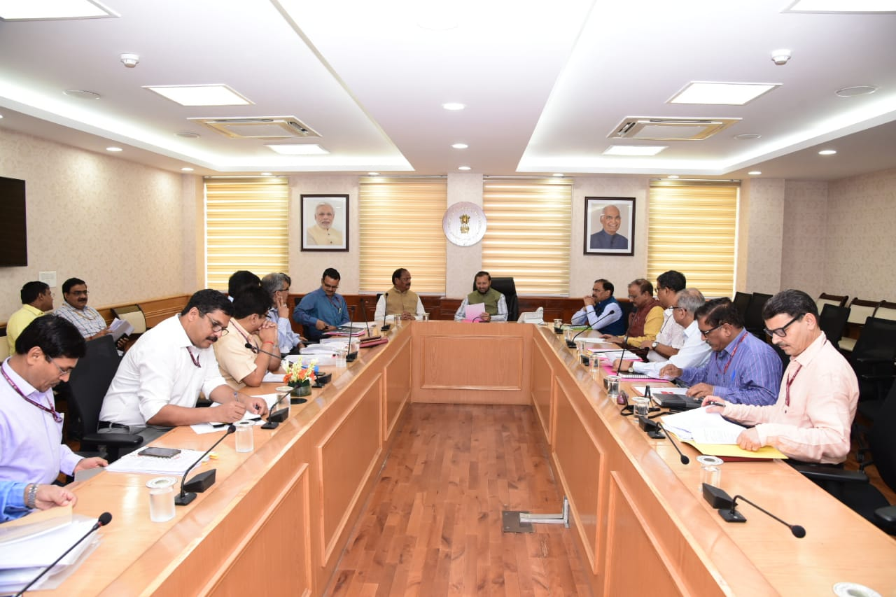 <p>Chief Minister Raghubar Das joined the meeting with Central Forest Environment and Climate Change and Information and Broadcasting Minister, Prakash Javadekar in Shastri Bhawan,…