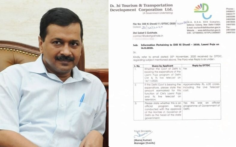 Kejriwal govt holds Laxmi puja, spends lakhs officially