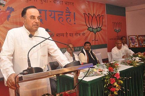 Swamy exhorts people to oust the corrupt Manmohan Singh-Sonia Gandhi regime