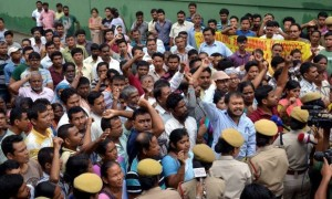 Adivasis protest in Jamshedpur against killing of tribals in Assam