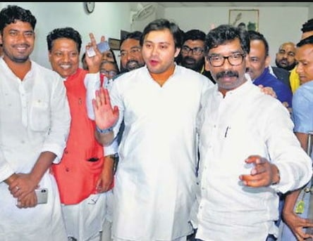 Three Opposition parties unite against ruling party in Jharkhand