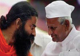 Now Anna hugs Ramdev,VK Singh