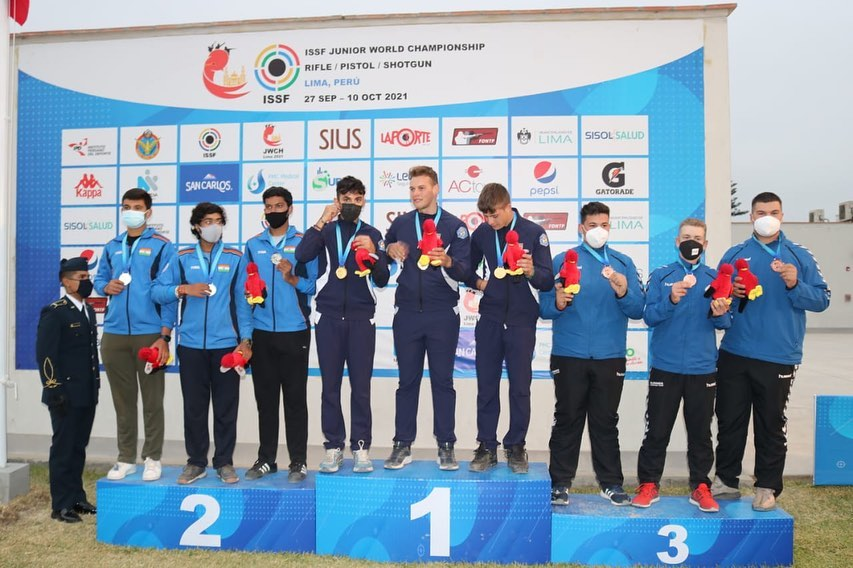 india-wins-silver-in-men-s-trap-team-event-at-junior-shooting-worlds