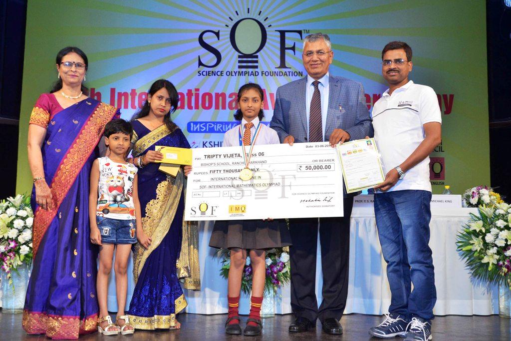 Ranchi students shine at Olympiad Awards 2017-2018